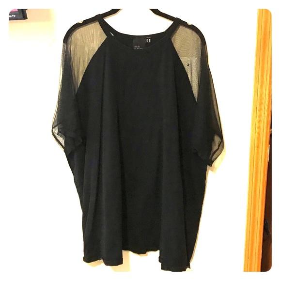 ASOS Curve Tops - Asos T-shirt with sheer sleeves